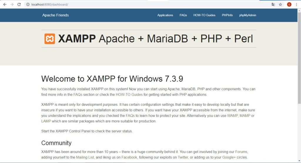 Xampp Port Değiştirme
